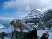 Timp dusted with early season snow