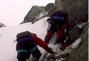 Alaska; climbing Mount Hope
