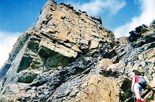 Osvaldo Cardellina along the last stretch of the  Monte Emilius's SW ridge (Aug 04, 1974)