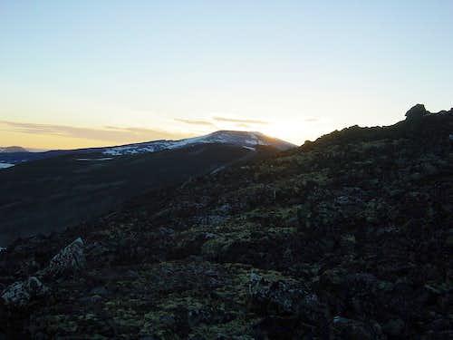 Sunrise at Glittertind