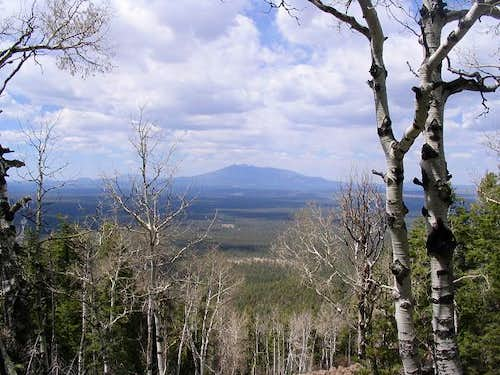 Shot of Humphreys from Mormon Mountain