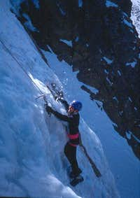 Climbing the ice cascade