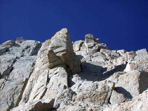 The upper half of the East Buttress