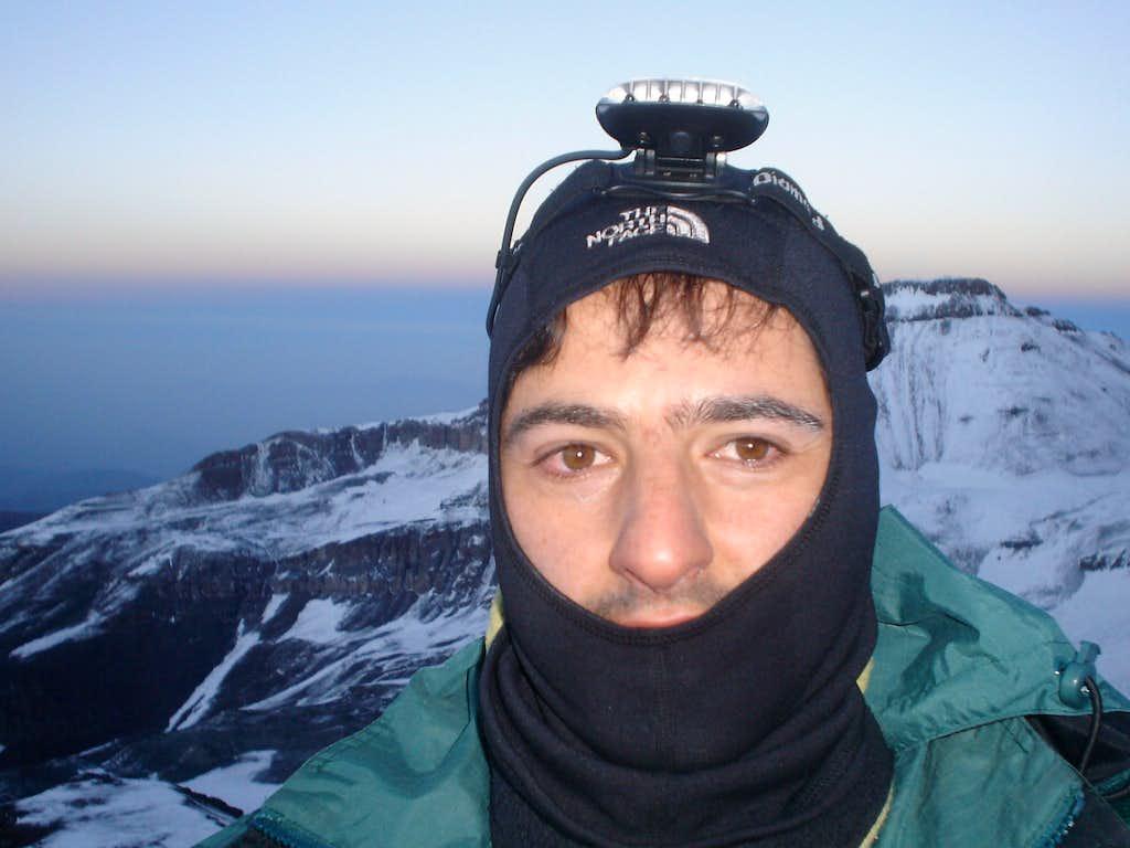 Summit day on Cerro Plomo, Chilean Andes