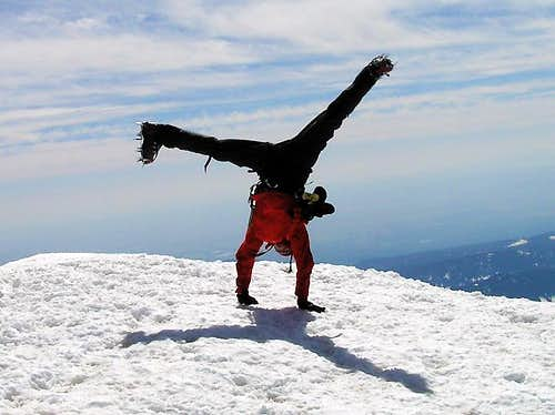 Mount Hood Summit Cartwheel