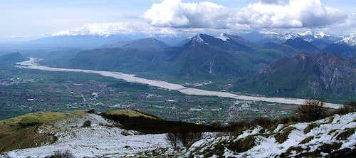 Monte Cuarnan / Mali Karman view