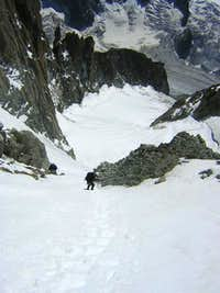 Glacier du Milieu - normal route