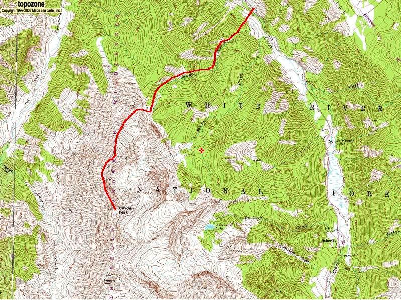 Hayden Peak from Castle Creek Road