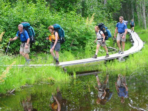 Boardwalks on the Chilkoot Trail