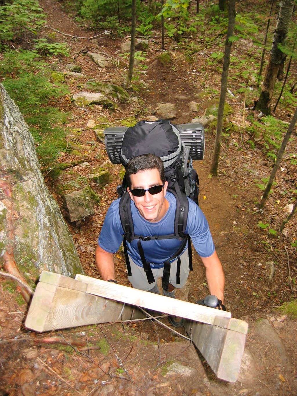 Ladder on the Laurentian Trail