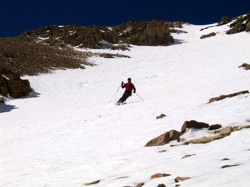 Skiing the Boudoir Couloir