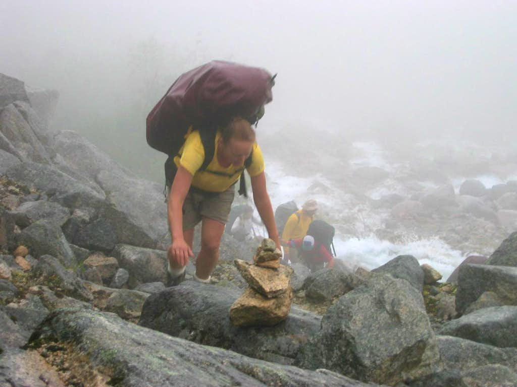 Ascending Long Hill - Chilkoot Trail