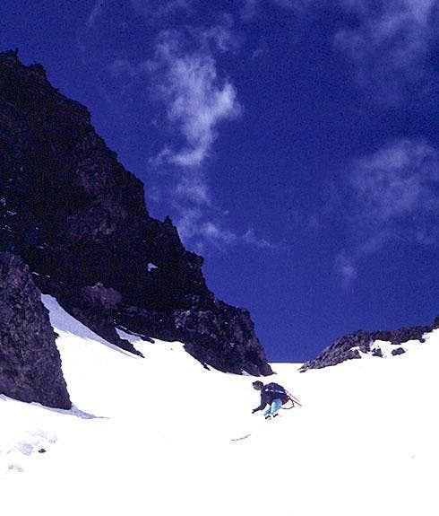 Blue Lake Peak - skiing