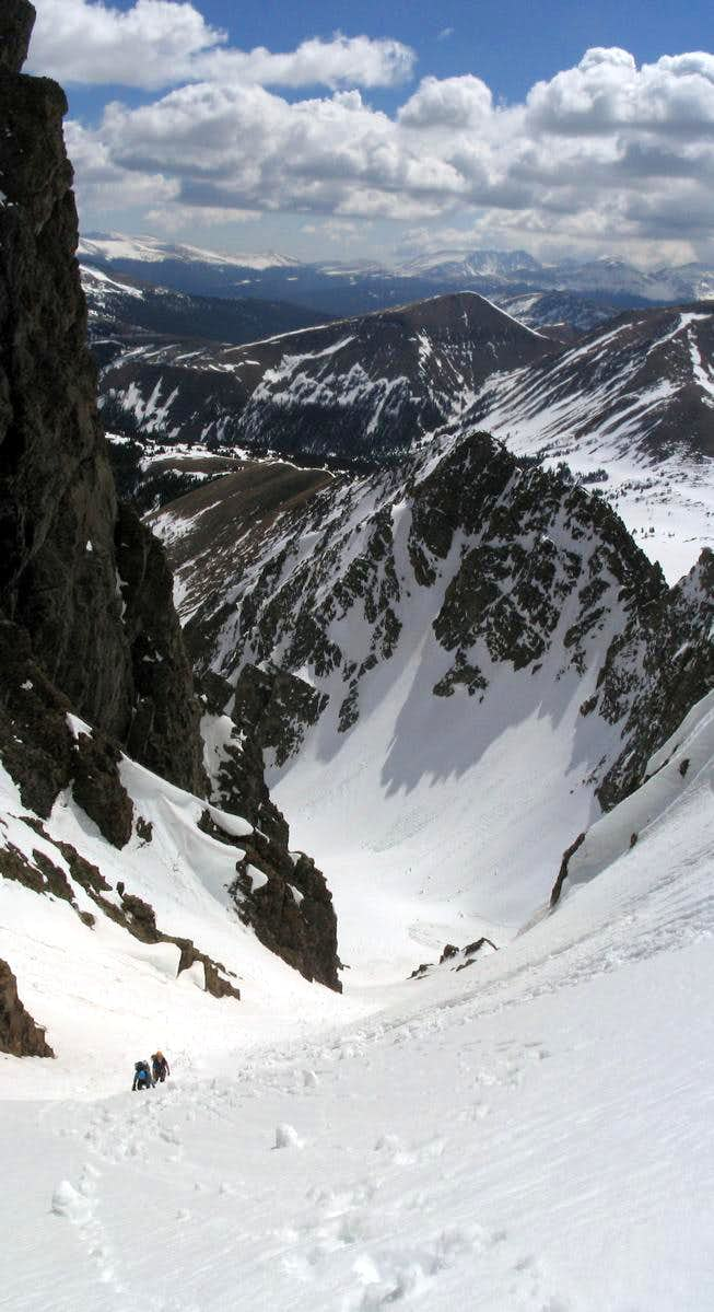 Nokhuloir and Grand Central Couloir