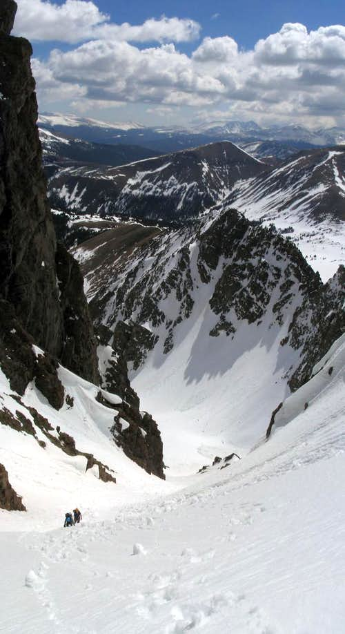 Climbing the Grand Central Couloir