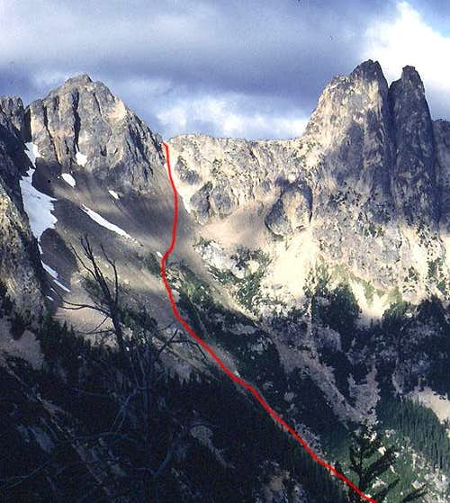 The approach to Blue Lake Peak