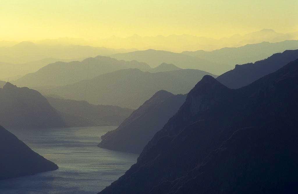 evening above Lago di Lugano