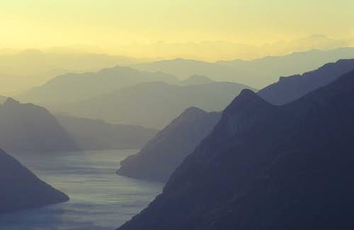 evening above Lago di Lugano