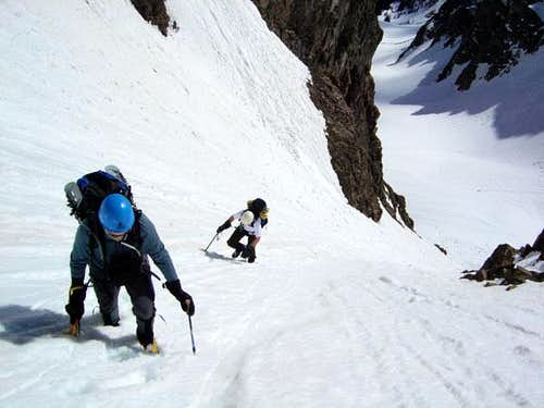Ascending Grand Central Couloir