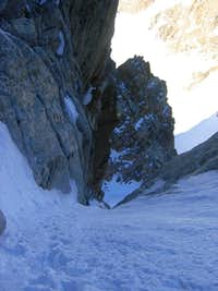 Midway up the Couloir