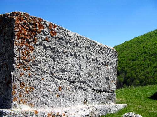 Gravestone in Umoljani village