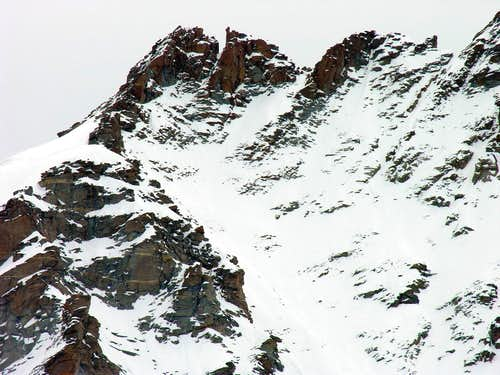 Punta Vaccarone <i>3868m</i>,  the northernest summits of Piccolo Paradiso