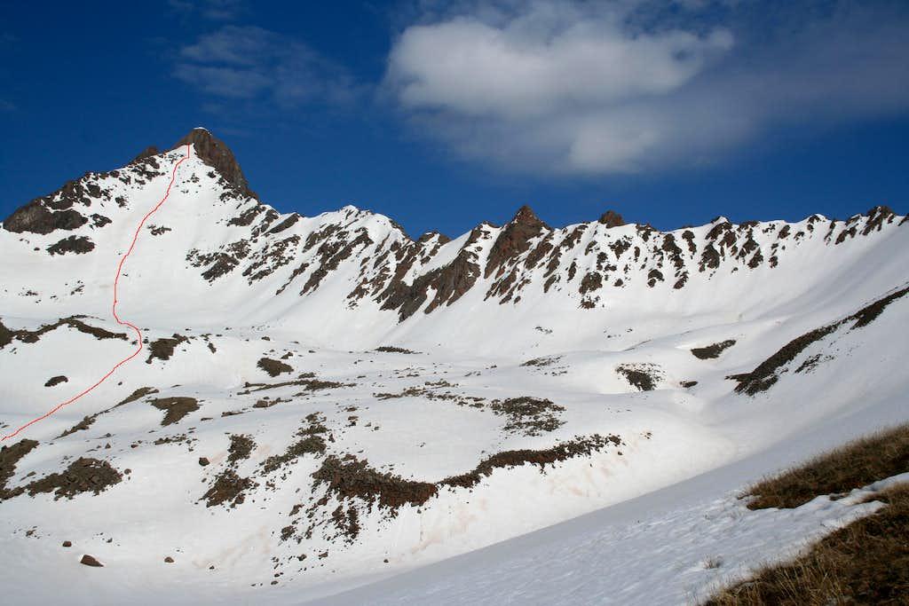 Wetterhorn Peak's East Face Route