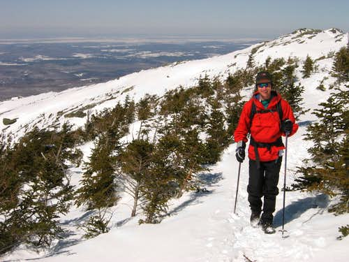 Nearing the ridge of Mt. Mansfield
