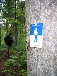 Trail Sign - Laurentian Trail