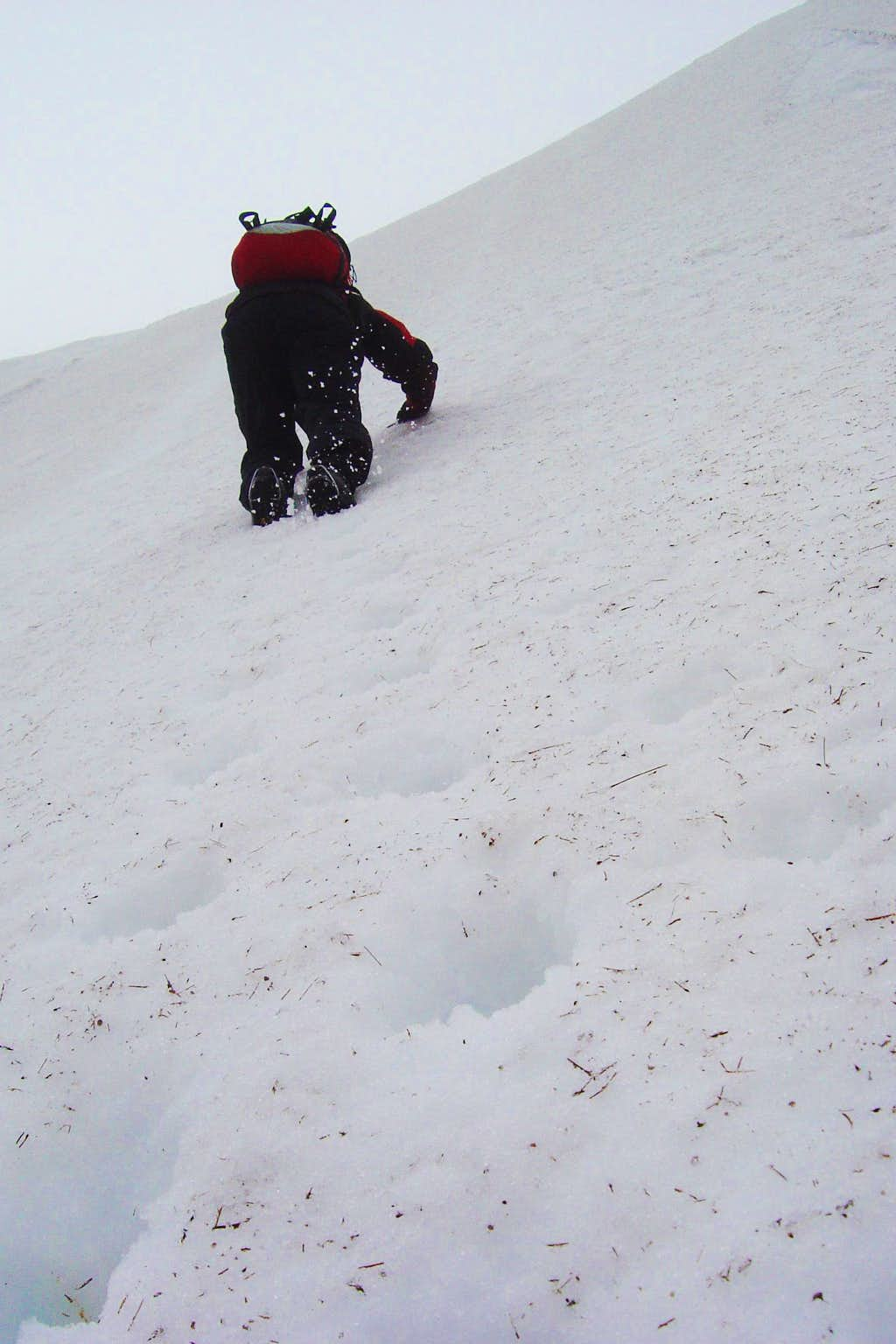 Nearing the top of the Corrie