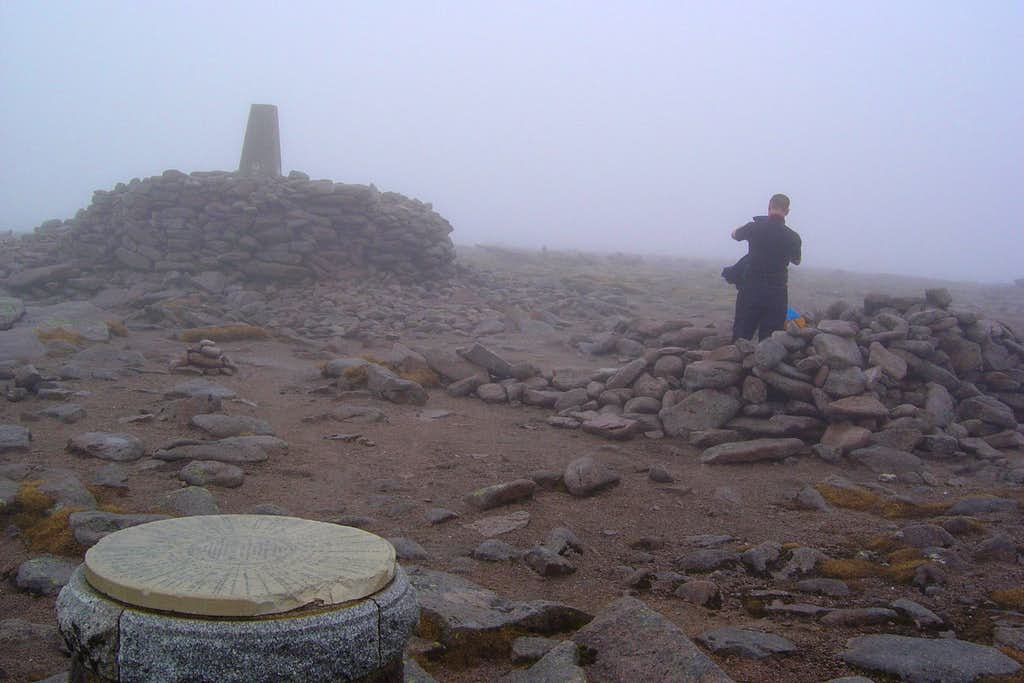 The summit cairns.