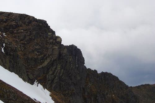 A view of the Fiacaill ridge from the Cairn Gorm side