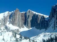 Lone Peak cirque in winter