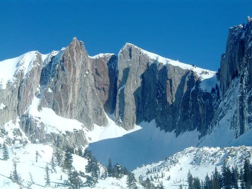 Lone Peak cirque in winter