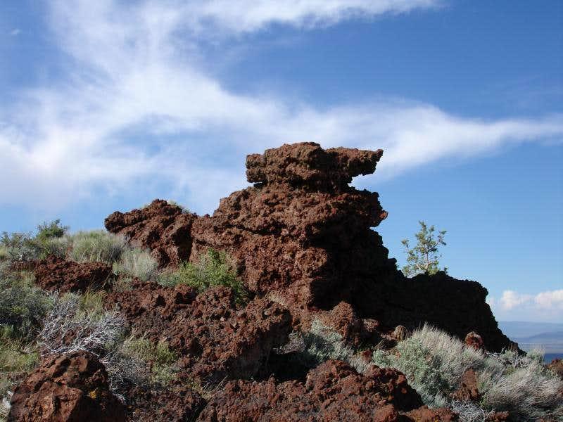 The summit lava plug/block