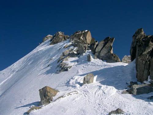 Final ridge to gain the...