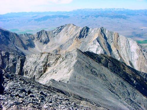 View from Borah summit to the...