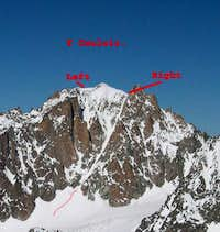 The Y Couloir with ist two...