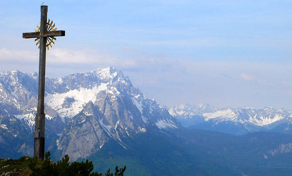 The Zugspitze from the summit
