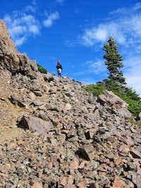 Talus field on Mt. Washington's summit ridge