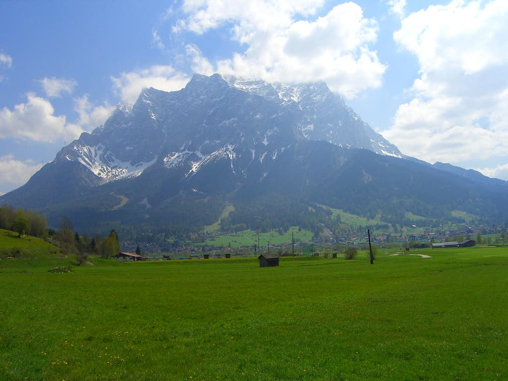 Zugspitze seen from West