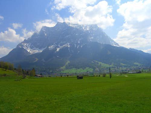 Zugspitze seen from West