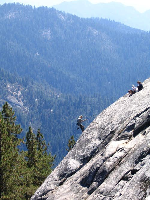 Rappelling off