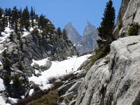 Two climbers headed to Lower Boyscout lake