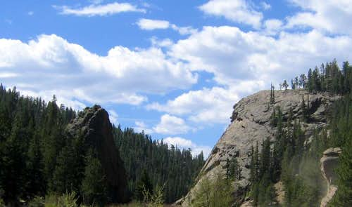 Elevenmile Dome and The Tooth, Elevenmile Canyon