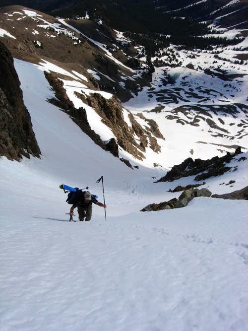 Climbing Hopeful Couloir