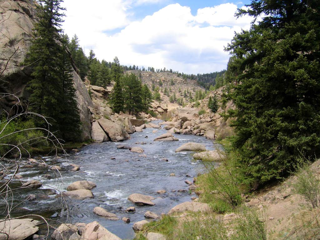 Elevenmile canyon photos diagrams topos summitpost for Eleven mile canyon fishing report