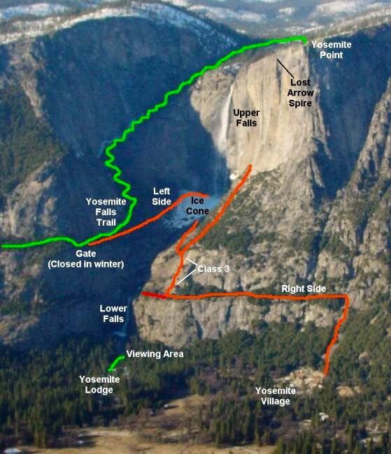 Yosemite falls climbing hiking mountaineering summitpost yosemite falls and the publicscrutiny Choice Image