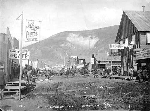 Dawson City and Midnight Dome - 1898