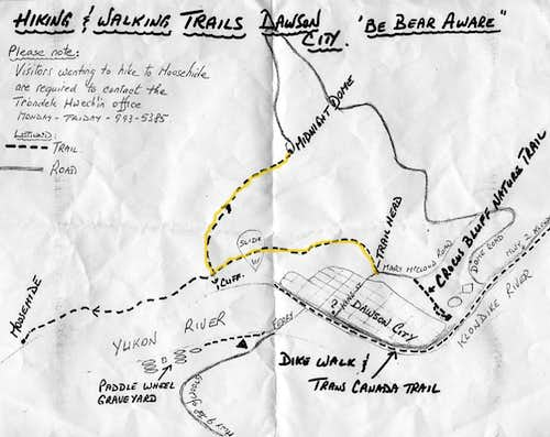 Hiking Map of Midnight Dome